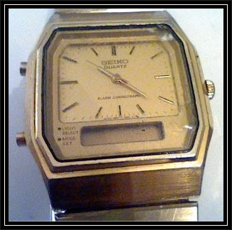 seiko alarm chronograph h601 5219 circa 1980 barefoot